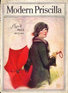 Modern Priscilla Magazine Cover - April 1923   - Cover Art by James Calvert Smith