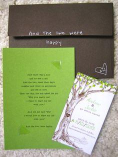 The Giving Tree wedding invitations Offbeat Bride Invitation Fete, Tree Wedding Invitations, Wedding Stationary, Wedding Wishes, Wedding Paper, Diy Wedding, Dream Wedding, Wedding Day, Blue Wedding