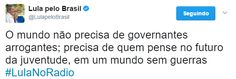 """O Antagonista - Lula: """"Parece que esse presidente (Trump) é meio confuso"""""""