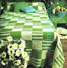 1970s INTL Vintage CROCHET Pattern ❤️ Bedspread  Stylish Bedspread in EASY Crochet! Bringing a contemporary look into your bedroom with this smartly