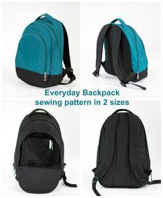 Backpack pattern in 2 sizes - Sew Modern Bags Sewing Patterns For Kids, Bag Patterns To Sew, Sewing For Kids, Wallet Sewing Pattern, Backpack Pattern, Back To School Bags, Diy Backpack, Handbag Patterns, Best Bags