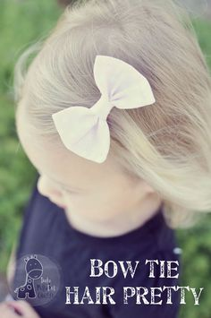 Funky Polkadot Giraffe: Bow Tie Hair Clip Pretty tutorial