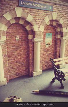Scale miniature sets by Caroline McFarlane-Watts - Paddington Station