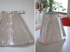 silver insulation skirt... looks like a fun super hero, space invader, robot...