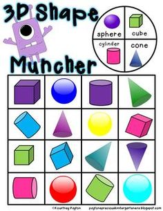 3D Shape Game, Posters & Activities