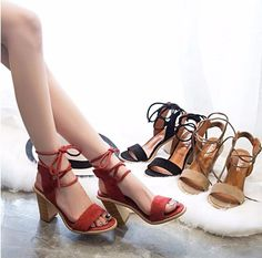 Open Toe Lace up San