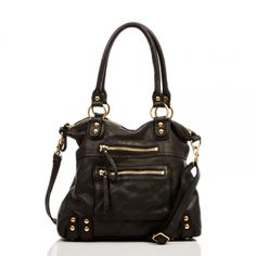 Leather bad in black (Dylan medium tote)