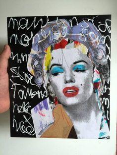 Marilyn Monroe マリリンモンローオリジナル french artist Vlt_画像2