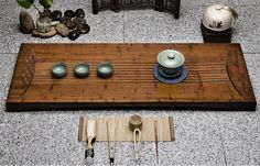 Weight Bamboo tea tray displaying and serveing tea by Chinateaware