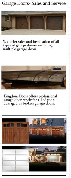 Kd Kingdom Garage Doors Installed By Us On Pinterest