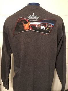 Men's CHASE AUTHENTICS LS Dale Earnhardt Jr Cotton T-Shirt Gray - XL  | eBay