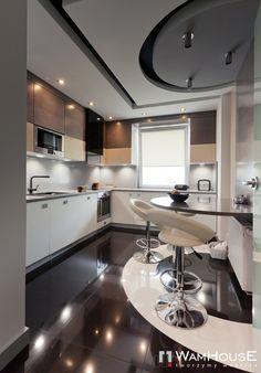 Grey-Black kitchen in Warsaw by WamHousE , via Behance