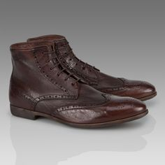new style b8f09 92bc6 Brown Mast Lace Up Boots - Sigaro Buffalino Leather - Paul Smith Shoes Men  S Shoes