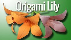 How To Make Origami Flower Lily Step By Step   Paper Lily Tutorial   Ori...
