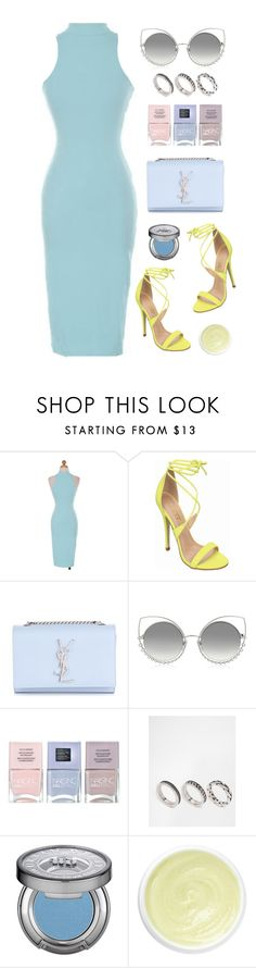 """Summer Vibe"" by luvsassyselfie ❤ liked on Polyvore featuring Yves Saint Laurent, Marc Jacobs, Nails Inc., ASOS, Urban Decay, Eve Lom, yellow and Blue"