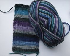 Kaffe Fassett- designer sock yarn made by Regia, on sale at Joe's Toes. Self striping!