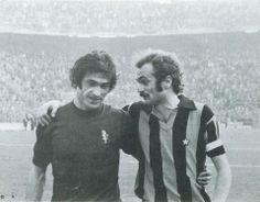 Paolo Pulici and Sandro Mazzola (Inter), son of Valentino Mazzola, captain of Grande Torino.