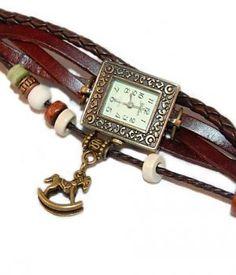 Retro Lederen Armband Horloge Houten Paard http://www.ovstore.nl/nl/retro-lederen-armband-horloge-houten-paard.html