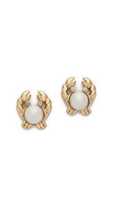 Kate Spade New York Shore Thing Crab Stud Earrings