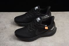 d098cc605 Off-White x Nike Air Zoom Pegasus 35 Black Men s and Women s Size Running  Shoes