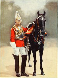 Full dress uniform of a member of the Household Cavalry, Captain, 2nd life Guards