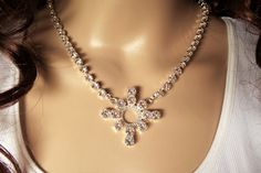 SWAROVSKI BRIDAL SNOWFLAKE necklace winter by DKSJewelrydesigns