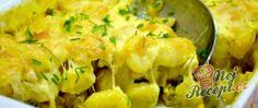 Recept Zapečené těstoviny (gnocchi) s kuřecím masem a hlívou ústřičnou Gnocchi, Potato Salad, Cauliflower, Macaroni And Cheese, Curry, Potatoes, Vegetables, Cheesecake, Healthy