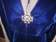 Victor Costa Blue velvet gown $135.00
