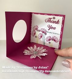 Stampin'Up demonstrator Creations by Jolan: Pop- up card with Stampin'Up Daisy Delight stamp set
