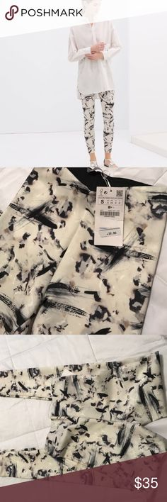 ZARA / black & white leggings amazing eye-catching black & white leggings from zara. recently bought on poshmark but they're a bit too tight on me :( never been worn (only tried them on). NWT! ✨ Zara Pants Leggings
