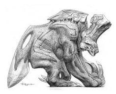 Miscellaneous Monster concept art by Wayne Barlowe. Wayne Barlowe, Monster Concept Art, Weird Creatures, Pacific Rim, Futuristic, Lion Sculpture, Sketches, Statue, Gallery