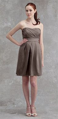 Jenny Yoo, Style: Kate, Material: Hammered Satin, Color: Barley
