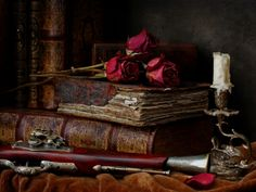 Roses...Books...Candle...Yes, I'm all set and ready for my date with Catherine (Vincent thinking to himself)