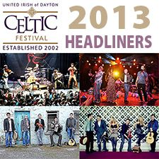 2013 Dayton Celtic Festival Headliners Announced!