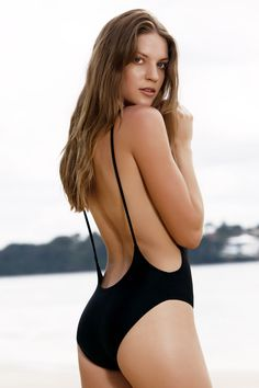 Monokini High Cut Backless One-Piece Swimwear BLACK: One-Pieces | ZAFUL