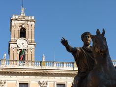 Plaza del Campidoglio ('Capitolio'), remodelada según diseño de Miguel Ángel
