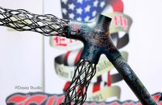 Delta 7 IsoTruss™ Road bike frame, Custom painting by coosun