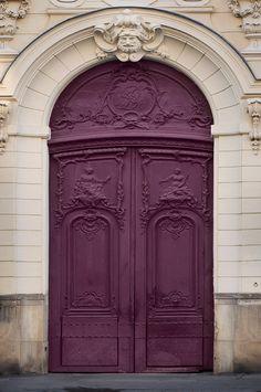 Paris Photo  Purple Door Parisian Architecture Fine by ParisPlus, $25.00