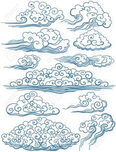 Classic-Japanese-Clouds-Tattoo-Designs.jpg (994×1300)