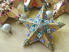 turquoise star ornament #diy #christmas
