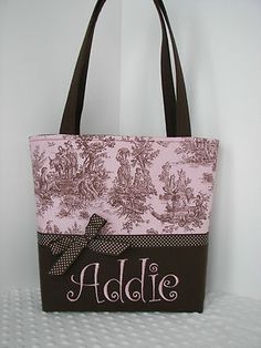 Pink and Brown Diaper Bag just added to Auntie JuJu Designs EBay Store and Etsy Store.
