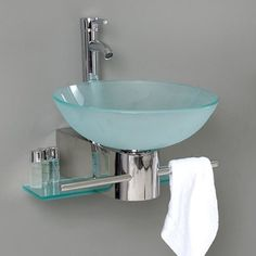 Make Photo Gallery Fresca Vetro Stainless Steel Vessel Single Sink Bathroom Vanity with Tempered Glass Top Faucet Included Common x Actual x