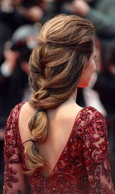 Loose, romantic french braid