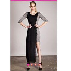 Black and Gray Hi Lo Maxi Dress 65% Cotton 35% Polyester. BNWT. Runs true to size. No trades. Bundles accepted! Dresses Maxi