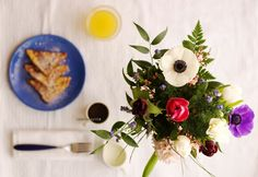 French toast and flowers