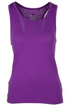 acc90c2f996c3 Mountain Warehouse Samaya Slub Yarn Singlet Walking Hiking Sports Vest Top Womens  Sport Fitness Gym Purple