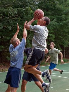 Obama playing some hoops...