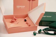 Packaging design for Urbanears in-ear Kransen