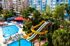 Ark Apart and Suite Hotel Alanya The Ark Apart and Suite Hotel is less than 1 km from the beach and the centre of Alanya. It has 3 outdoor pools and 3 waterslides and offers spacious apartments with balconies. Free shuttle services to Kleopatra Beach is provided.