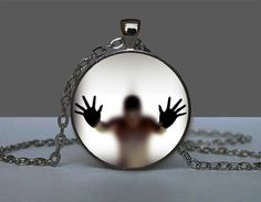 Glowing Pendant Man Behind The Glass    You have to charge the glowing pendant by holding it under the light before you wear it in the dark, it